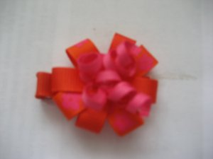 Orange flower clip