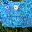 Blue Handmade Raggybag, Rag quilt Purse Tote Diaper bag