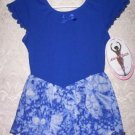 Girls Navy Blue Skirted Leotard Dance Dress Size XS