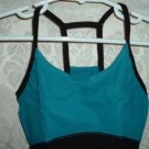 Girls Black and Teal Cotton Blend Camisole Leotard Size SC