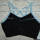 Toddler Girls Black and Sky Blue Camisole Bra Top Size S