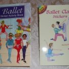 Ballet Sticker Activity Book and Ballet Class Stickers - Two Book Set