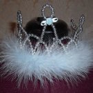 Blue Feather Boa Princess Crown