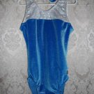 Snowflake Designs Blue Horizon Gymnastic Leotard with Matching Short Size Adult Small