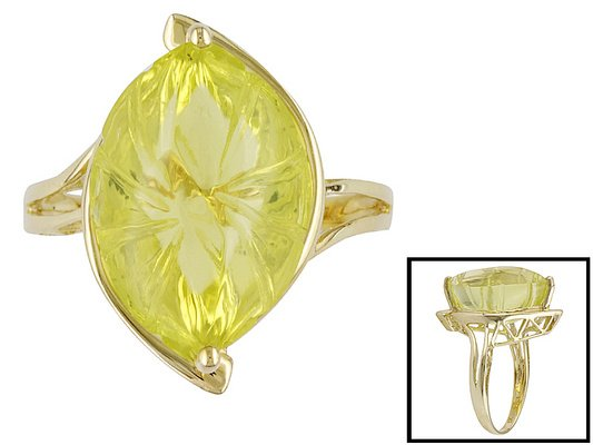 lemon quartz ring size 7