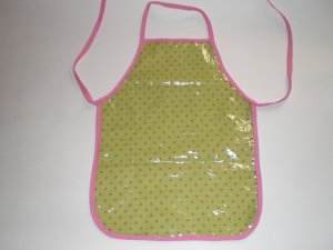 Lime Green Pink Polka Dot-xs