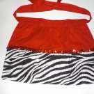 Black Zebra with red