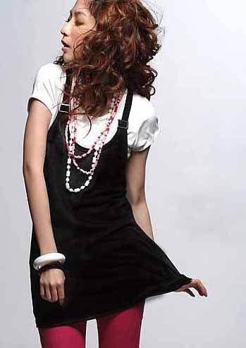 Buckle Black Tank Dress