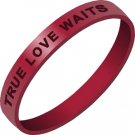 True Love Waits Silicone Bracelet Free Shipping