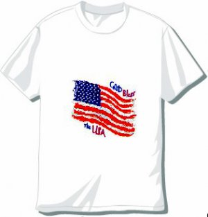 God Bless America T-shirt Available in 3 colors