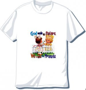 God Made us Sisters  T-shirt Available in 3 colors