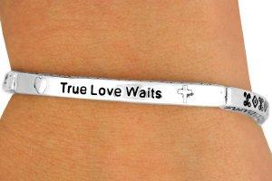 True Love Waits Silver Tone Bracelet