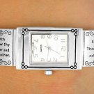 "Christian Silver Tone ""Ten Commandments"" Watch"