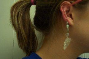Quartz Silver Ear Bauble