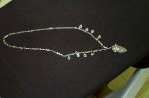 Quartz Crystal Celtic Swirl Elven Necklace