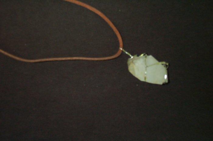 Quartz Crystal Leather Elven Ranger Necklace