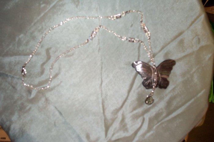 Elven Butterfly Tear Drop Necklace