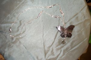 Elven Butterfly Tear Drop Necklace