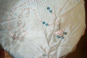 Quartz Crystal Elven Silver Necklace
