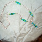Blue Green Glass Necklace