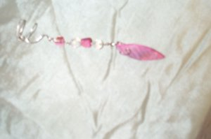 Pink Shell Leaf Elven Ear Cuff