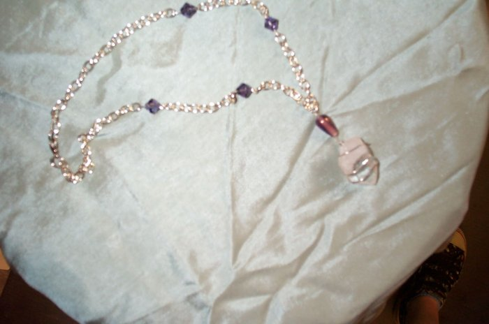 Purple Elven Quartz Crystal Necklace
