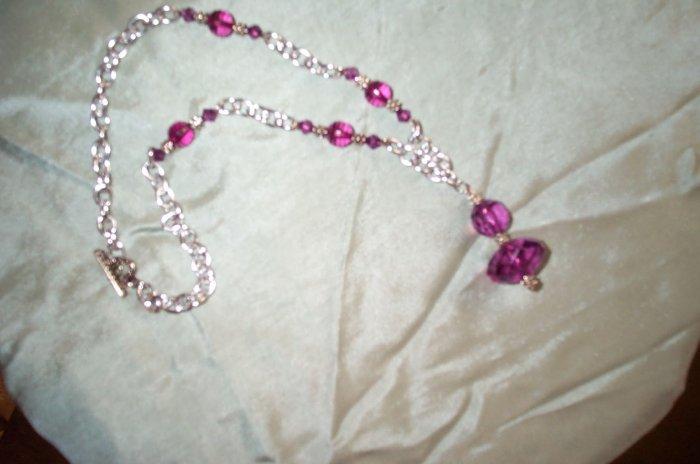 Medieval Renaissance Purple Necklace