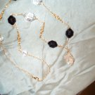 Black and Gold Quartz Crystal Necklace