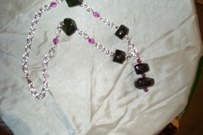 Green Elven Stone Necklace