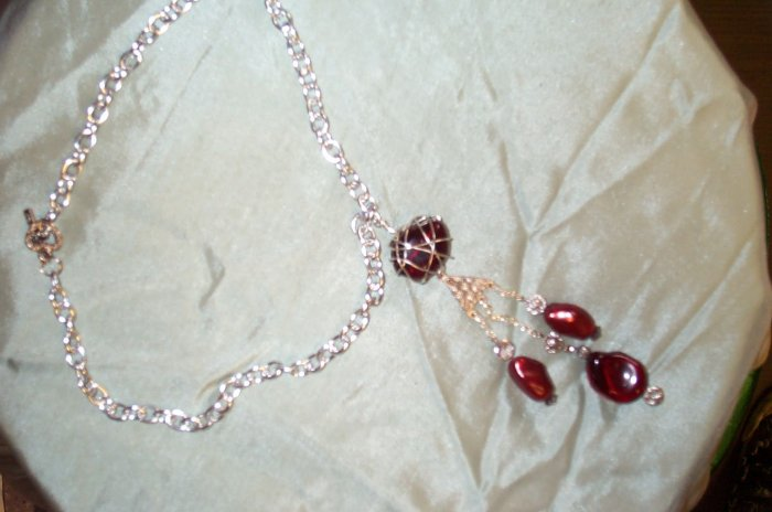 Medieval Renaissance Red Stone Necklace