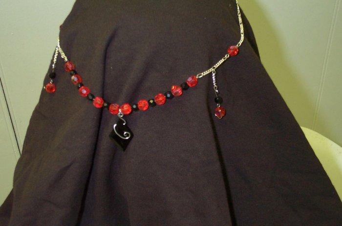 Medieval Elven Renaissance Black Red Circlet Headdress