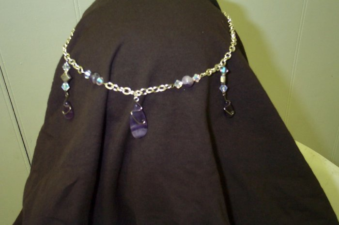 Purple Amethyst Elven Renaissance Medieval Circlet Celtic Headdress