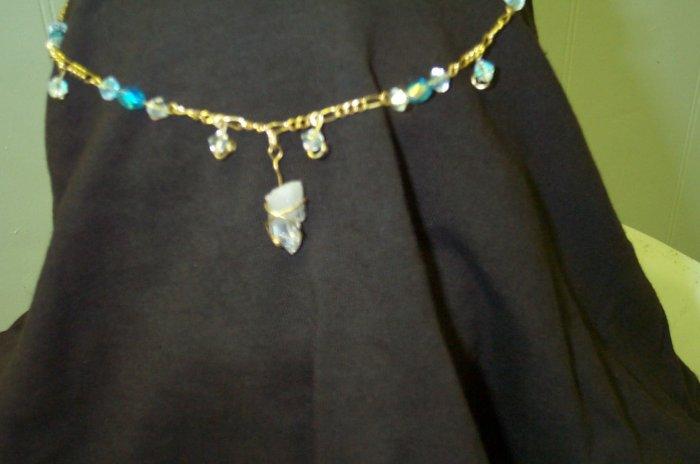 Gold Blue Elven Fairy Renaissance Medieval Celtic Circlet