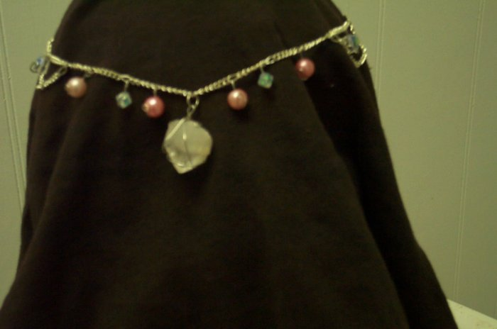 Quartz Crystal Pink Elven Celtic Renaissance Fairy Circlet