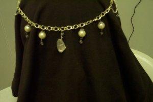 Quartz Crystal Pearl Elven Drop Circlet Renaissance Celtic Medieval