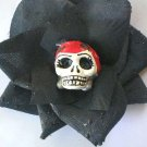 red Head Calavera Black Rose