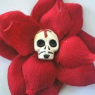 El Diablito red rose hair clip