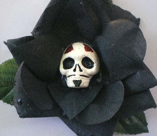 Diablito calavera, black rose