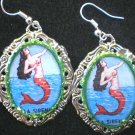 GREEN LA SIRENA EARINGS