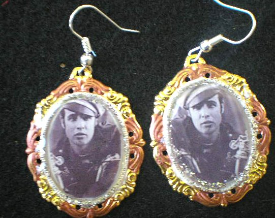 THE WILD ONE- MARLON BRANDO EARINGS