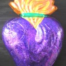 PURPLE SACRED HEART  ORNAMENT