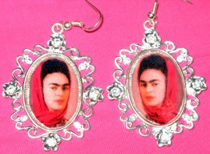 Red Shal Frida Earings