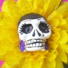 yellow flower calavera