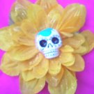 sugar skull yellow flower