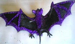 Purple Bat Hair Clip