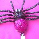 Tarantula  Hair Clip - Pink
