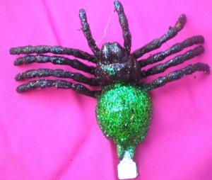 Tarantula  Hair Clip - Green