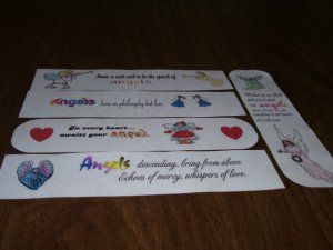 5 Bookmarks - Angels FREE SHIPPING