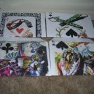 Set of 12 handmade envelopes Playing Cards and Jewels