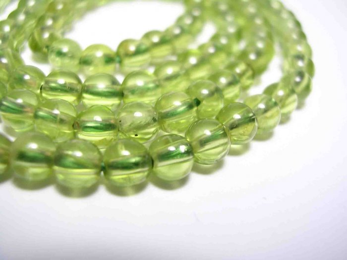 Peridot Round Gemstone Beads, 10pcs